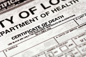 Using Certificate of Death Paternity Testing